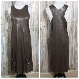 Stella McCartney 44 Bronze Metallic Draped Dress